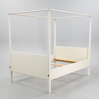 A 'Skattmansö' four poster bed, Ikea, 1990's.