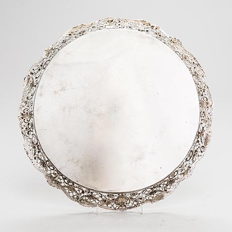 A silver tray, germany, mid-20th century.