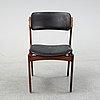 A model 'od 49' rosewood chair by erik buck, denmark.