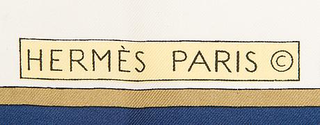 "Hermès, a silk scarf ""les cles/the keys""."