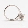 Ring, 18k vitguld, diamant ca. 1.35 ct. tolvanen l & kumpp, helsingfors 1974.