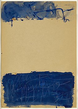 Eddie Figge, mixed media on paper, signed, executed around 1960.