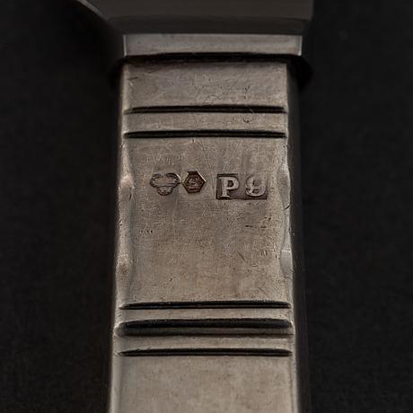 Jacob ängman, a part silver cutlery 'rosenholm', gab, stockholm 1959-65. (36 pieces).