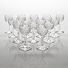 An 'yrjö' crystal glassware set, 57 pieces, riihimäen lasi, finland, latter half of the 20th century.