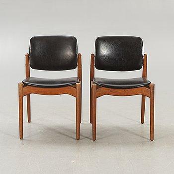 A pair of Danish Örum 1960s teak chairs.