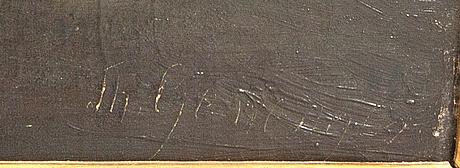 Okänd konstnär, 1800-tal, olja på duk, bär signatur.
