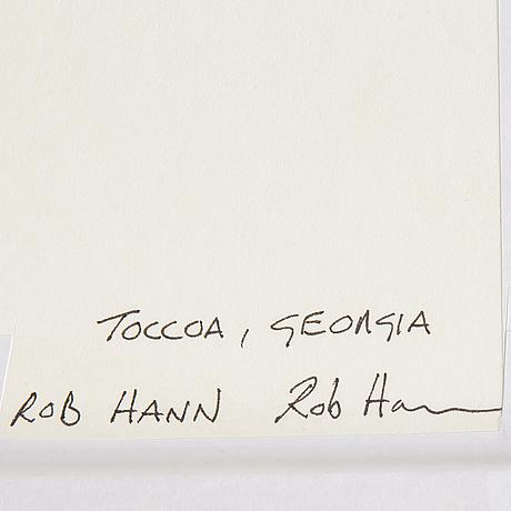 Rob hann, inkjet print, signed a tergo.