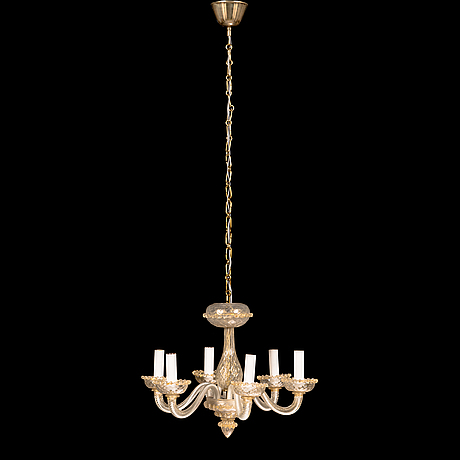 A mid-20th-century murano glass chandelier.