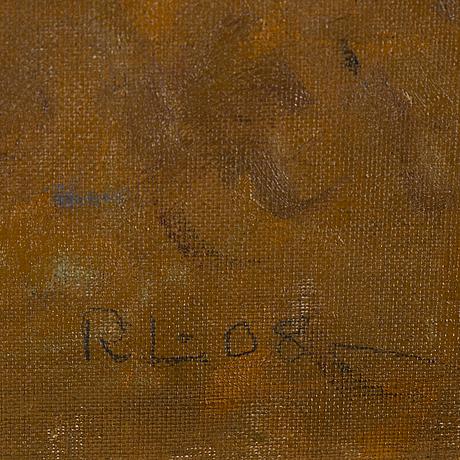Rikard lindström, olja, signerad och daterad.