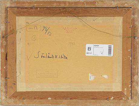 Axel sjöberg, akvarell, signerad och daterad -43.