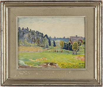 Axel Sjöberg, watercolour, signed and dated -43.