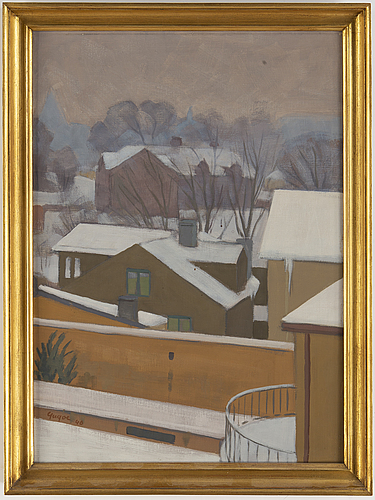 Yngve berg, oil on canvas, signed and dated -40.