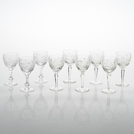 A 64-piece glassware set, last quarter of the 20th century.