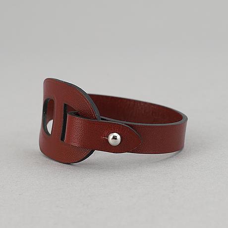 Hermès, a leather bracelet, 2014.