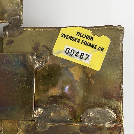 Claës e. giertta, a brass mirror, 1970's/80's.