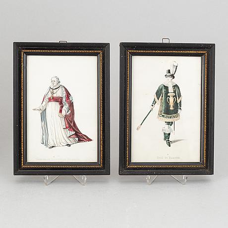 A set of twelwe hand-coloured litographs of swedish chivalric orders by adolf ulrik schützercrantz.