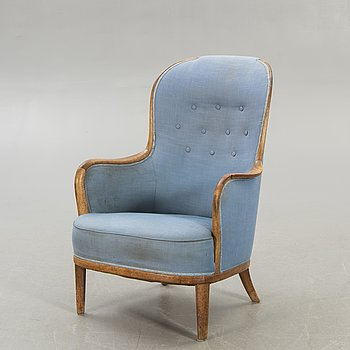 "Carl Malmsten, armchair, ""Advokaten"", OH Sjögren, second half of the 20th century."