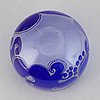 Bertil vallien, a unique glass bowl from boda åfors, sweden, signed.