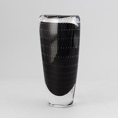 Vicke lindstrand, a glass vase from kosta.