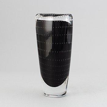 A glass vase from Kosta.