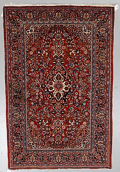 Matta, semiantik Keshan, ca 198,5 x 127-133,5 cm.