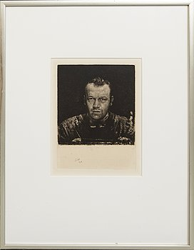 Axel Fridell, an etching from 1928.