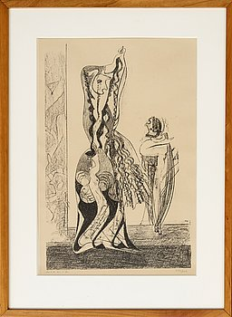 Max Ernst, a signed and numbered lithograph.