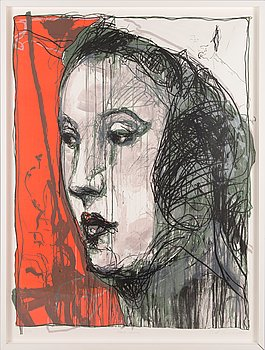 Kuutti Lavonen, lithograph, signed and dated 2008, numbered 31/50.