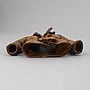 A stoneware sculpture by ingrid herrlin, signed.
