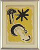 Joan miró, litograph, in colours, signed and numbered 61/100.
