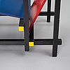 Gerrit rietveld, easy chair, 'red and blue chair', cassina.