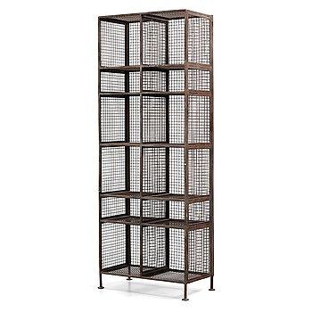 A metal shelf, contemporary production.