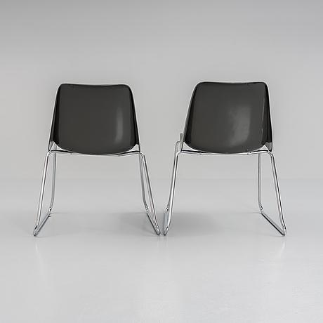 A pair of 'frankfurt chairs' by helmut starke.