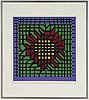 Victor vasarely, silkscreen in colours, signed 110/250.