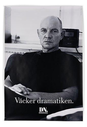 """Poster, lars norén, """"väcker dramatiken."""", dn."""