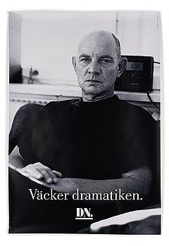 """Affisch, Lars Norén, """"Väcker dramatiken."""", DN."""