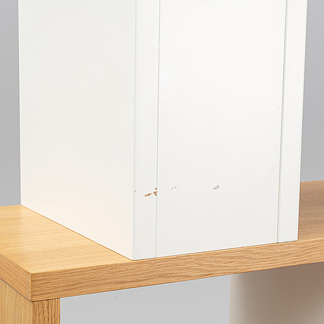 Terence conran, a 'counterbalance' oak bookcase, content by terence conran.