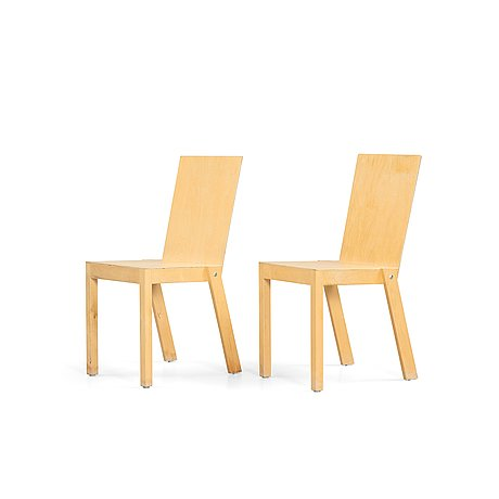 Åke axelsson, a pair of 'anselm' chairs, for gärsnäs or galleri stolen, sweden, post 1996.