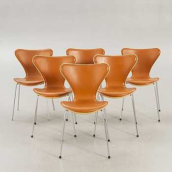 "Arne Jacobsen, stolar 6 st ""Sjuan"" för Fritz Hansen Danmark 2006."