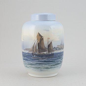 A porcelain vas from Royal Copenhagen, Denmark.