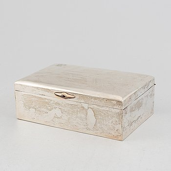 A silver box by Karl Anderson, Stockholm, 1916.