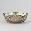 A silver and glass bowl from finland, 1923.
