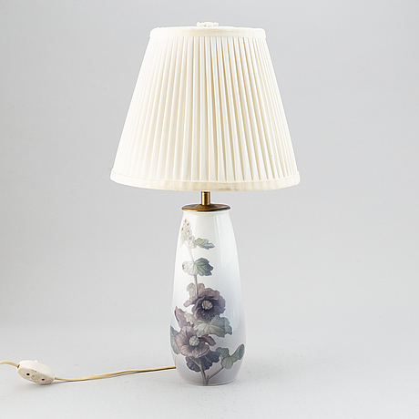 Bordslampa, porslin, royal copenhagen, danmark.