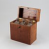 A box with three bottles, mid 19th century.