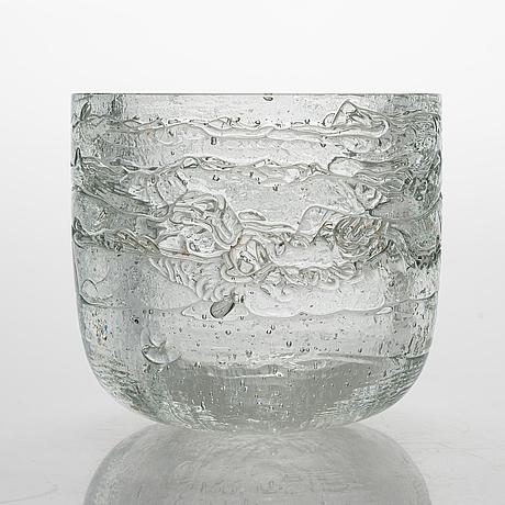 Timo sarpaneva, bowl and candlestick  'archipelago' signed timo sarpaneva.