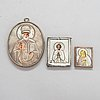Three early 20th-century russian travelling icons.