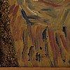 Madeleine pyk, olja på pannå, signerad.