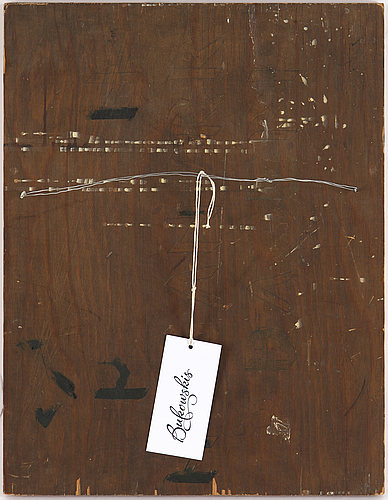 Madeleine pyk, oil on panel, signed.