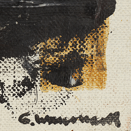 Gösta wallmark, oil on canvas, signed. dated -61 verso.