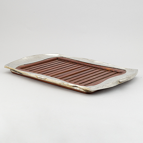 A silver plated art nouveau tray, early 20th century.